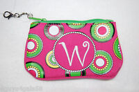 Coin Purse Zipper Photo Id Slot Pink w Monogram Retro Design Msc Cute