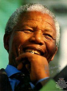 Nelson Mandela ++ Autograph ++ Friedensnobelpreisträger ++ Autogramm