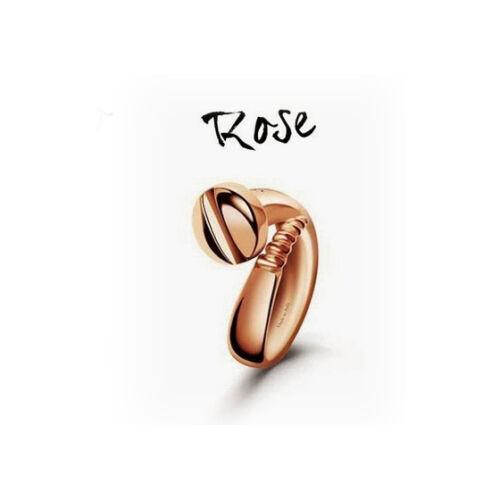 OUTLET Anello unisex Vis d/'Amour Argento rosè con diamante misura 13 Bliss