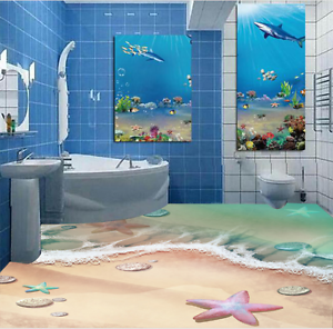 3D Beach Landscape 68 Floor WallPaper Murals Wall Print 5D AJ WALLPAPER AU Lemon