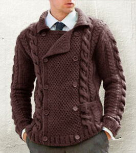 ebe5c9130cae Image is loading Men-039-s-Hand-Knitted-Cardigan-XS-S-M-L-