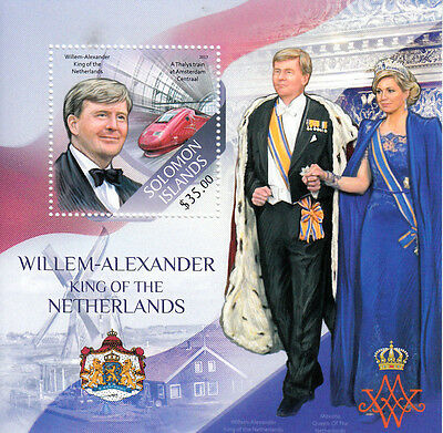 Solomon Islands 2013 MNH King Willem-Alexander Netherlands 1v S/S Thalys Maxima