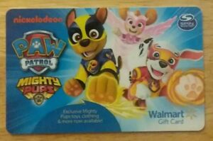 Image Is Loading Paw Patrol Mighty Pups Walmart Gift Card Great