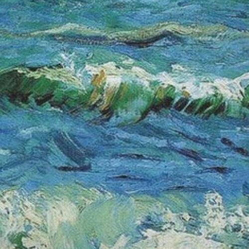 Kissenhülle Kissenbezug Motivkissen Gemälde van Gogh Das Meer bei St Maries