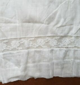 A34-Antique-Edwardian-Lace-Fabric-Petticoat-Salvage-Costume-French-Doll-Clothes
