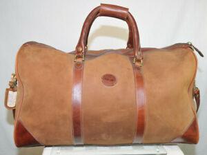 Rare-Vintage-Timberland-Leather-Duffle-Bag-Circa-1980s-22-x-12-x-12-USA-Brwn