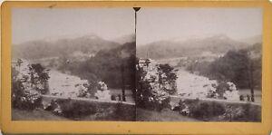 Ponte-di-neve-Vermondans-Francia-Fotografia-Stereo-Amatore-Vintage