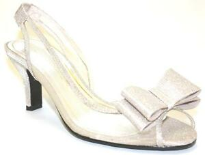 Women-039-s-Shoes-Caparros-SUMMER-Dress-Sandal-Bow-PROM-WEDDING-NUDE-Glimmer-US-7-0