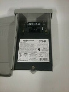 MARS 80315 A/C DISCONNECT ELECTRICAL SWTTCH NON- FUSE BOX, 60APM MAX,  240VAC | eBayeBay