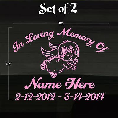 In Loving Memory Of with Fish Decal Window Sticker Custom Cute Fishing Love