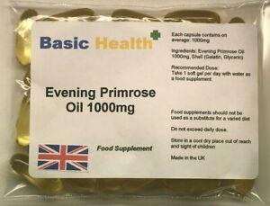 Evening-Primrose-Oil-1000mg-Strong-Capsules-Hormone-Balance-Eczema-Acne-PMS