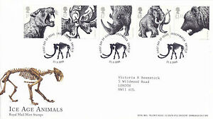 21-MARCH-2006-ICE-AGE-ANIMALS-ROYAL-MAIL-FIRST-DAY-COVER-FREEZYWATER-ENFIELD-SHS