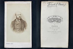 Franck, Paris, Paul Féval, écrivain Vintage cdv albumen print.Paul Féval est u