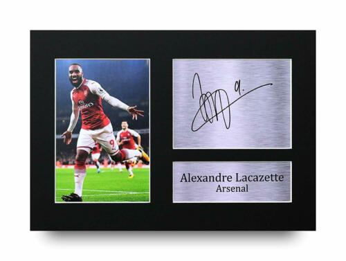 Alexandre Lacazette Signed Pre Printed Autograph Photo Gift For an Arsenal Fan