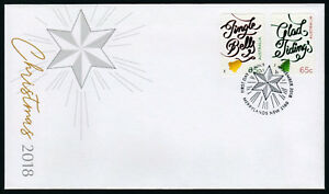 2018-Christmas-Embellished-S-A-Unissued-FDC-First-Day-Cover-Stamps-Australia