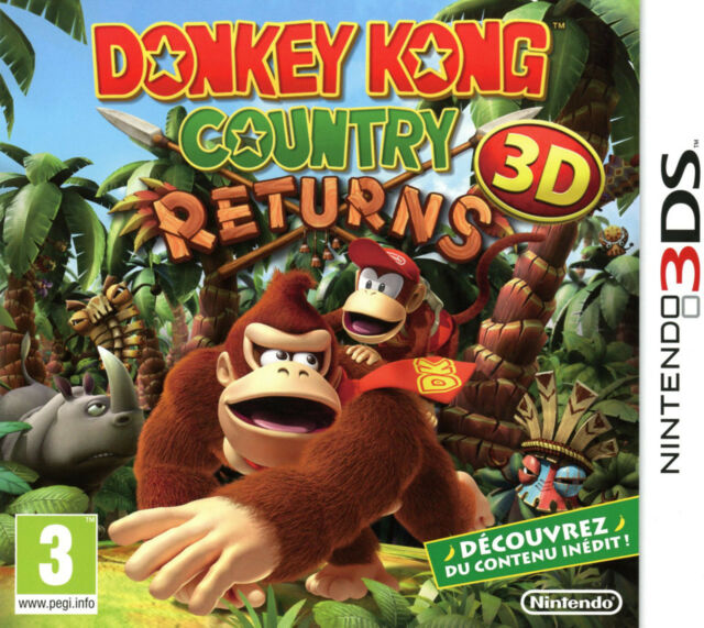 Donkey Kong Country Regresa 3D VF Consola Nintendo 3DS 2DS XL Nuevo 100% Nuevo