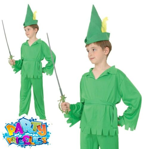 Kids Boys Robin Hood Girls Maid Marion Costume Book Day Child Fancy Dress Outfit