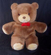 "20"" VINTAGE BROWN TEDDY BEAR GERBER TENDER TLC STUFFED ANIMAL PLUSH TOY RED OW"