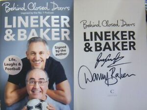 Double-Signed-Behind-Closed-Doors-by-Gary-Lineker-amp-Danny-Baker-Hbk-1st-Ed-2019