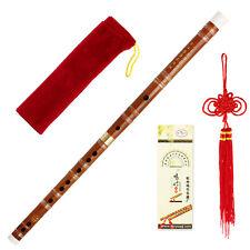 Chinese Traditional Handmade Pluggable Bamboo Flute /dizi F Key Knot Glue Bag