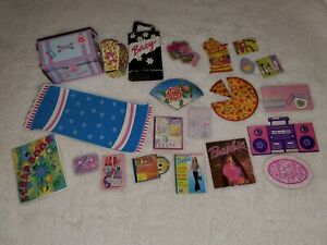 Vintage Barbie 80s 90s Bedroom Accessories Cardboard Cutout Mattel Radio Lot Ebay