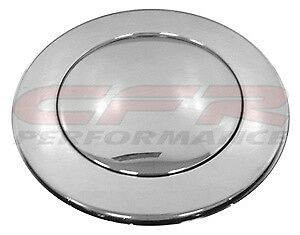 1967-94 Chevy Gm Flamed Chrome Aluminum Steering Wheel Horn Button 9 Hole