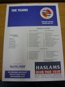 21-09-2004-Colour-Teamsheet-Reading-v-Watford-Football-League-Cup-039-W-Cup-039-no
