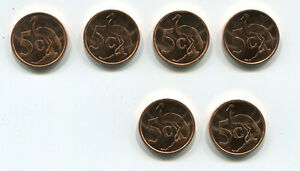 South-Africa-1999-Collection-of-6-Brilliant-Uncirculated-UNC-5-cent-coins