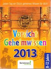 Vorsicht Geheimwissen 2013 – Abreißkalender, ovp rar, Kalender Schatzkiste Ideen
