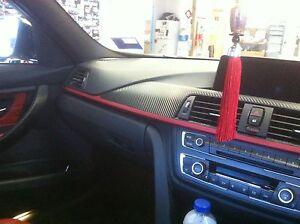 Quality Carbon Fiber Vinyl Wrap For Bmw F30 328i 320i Interior Parts