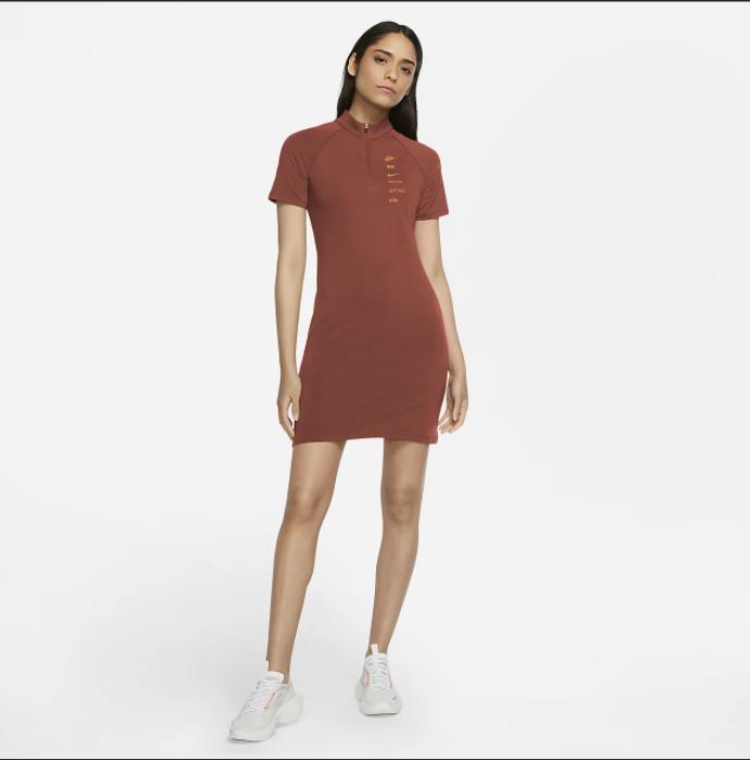 Women's Nike Sportswear Short Sleeve Dress Small. CU5674-895. @