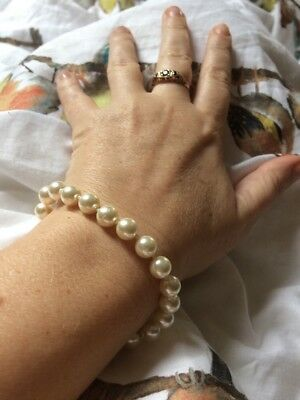 Pretty Accessorize Faux Pearl Bracelet Bridal Wedding Cruise Prom Party Jewellry Elegante Nell'Odore