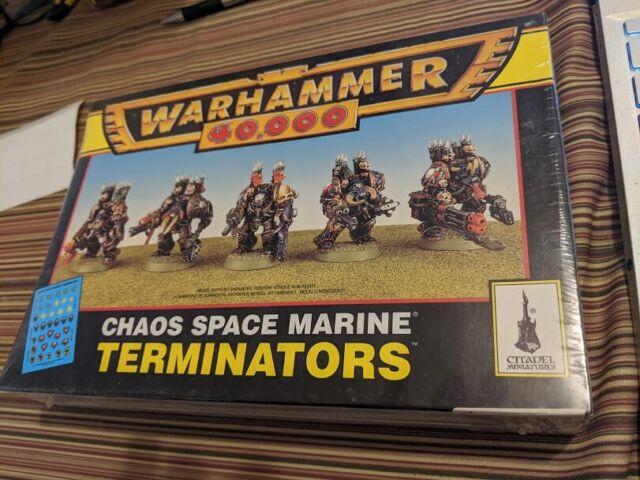 Warhammer 40k GW Games Workshop Chaos Space Marines Terminators Sealed New