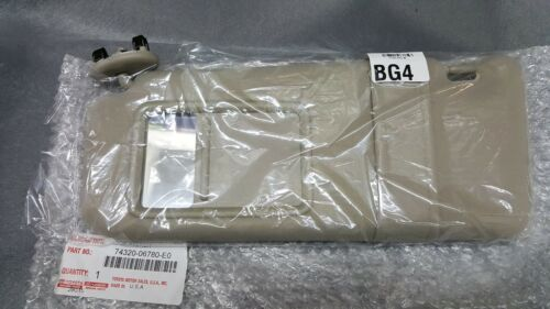Toyota Camry Tan Drivers Side Sun Visor WithOut Sunroof 2007-2011
