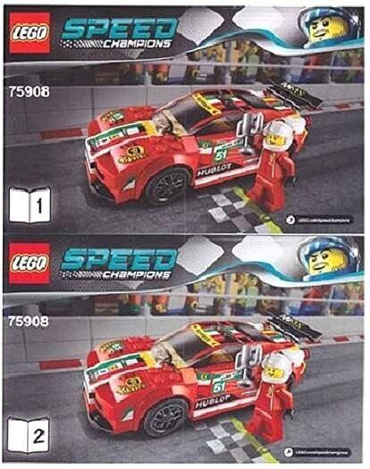 Lego Speed Champions 458 Italia Gt2 153 Pcs Ebay