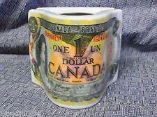 RARE Vintage ONE DOLLAR CANADIAN ASHTRAY 1979  $1 CANADA CANADIEN PORCELAIN