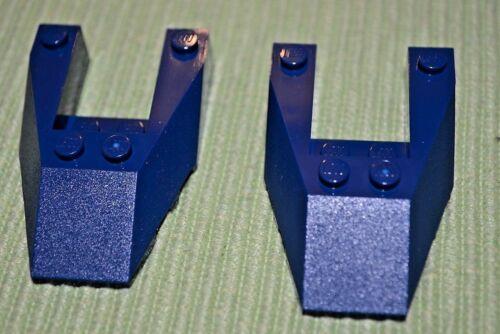 2 ~ 4x6 Dark Blue Nose Cover Bricks ~  New Lego Parts ~