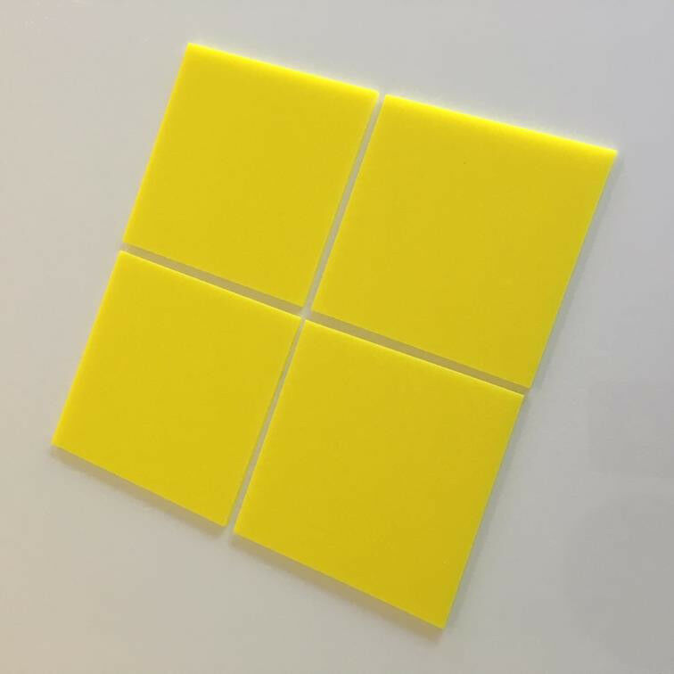 Square Acrylic Wall Tiles - Gelb
