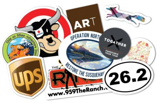 75-Custom Printed Full Color Vinyl Car Bumper Sticker Logo Decal-Up to 30 Sq in
