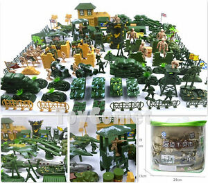 Army Soldier 200 Playset Military Toy Base amp; Plastic Men Accessories pcs Figures CwOFq0