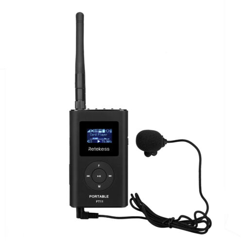 Mini Handheld FM Transmitter MP3 Broadcast Radio Transmitter 0.3W for Meeting