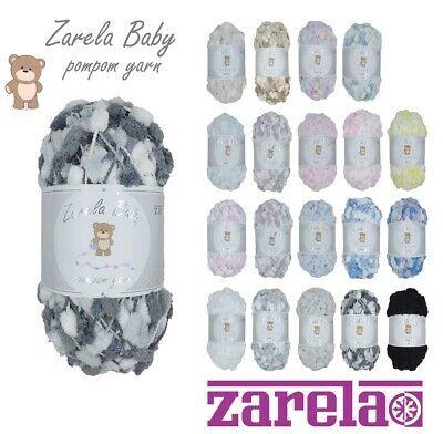 Zarela Baby Pom Pom Yarn 200g 12 White-Pink-Lilac