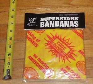 2000-WWF-WWE-Edge-and-Christian-Wrestling-Bandana-MIP-Yellow-Reeking-Awesomeness