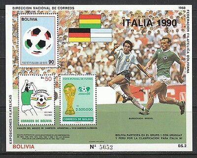 Seltener Block Block 177 Selbstlos 469 2 Scans Fußball: Bolivien Online Shop