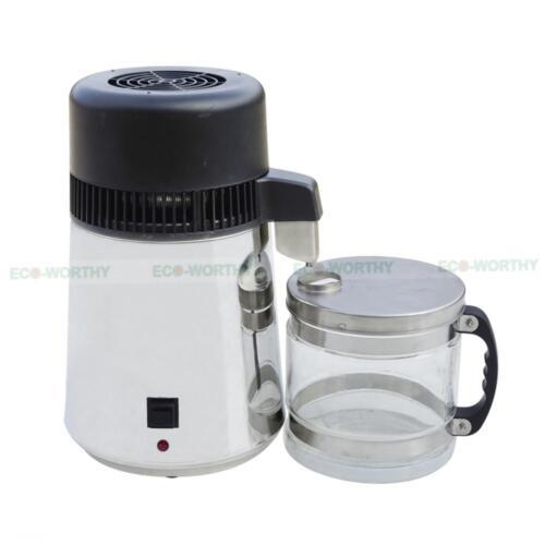 4L Water Distiller Stainless Steel Water Purifier Filter Glass Collection Jar