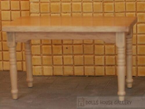 miniatures meubles échelle 1.12 maison de poupées miniatures Plain table en pin