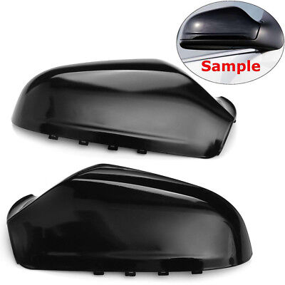 VAUXHALL ASTRA 59-FACELIFT PAIR OF WING MIRROR COVERS  IN GLOSS BLACK GENUINE