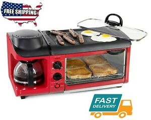 Home Kitchen All in one Red Toaster Ovens Appliances ...
