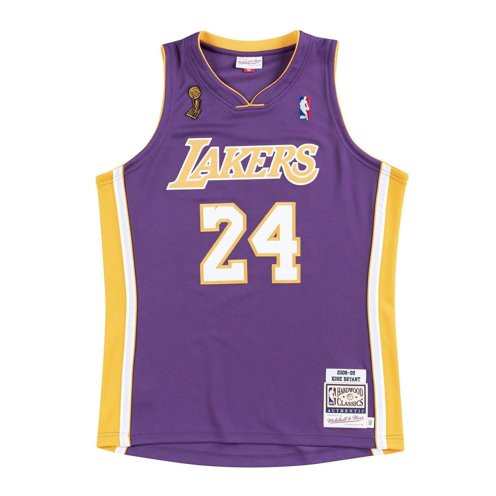 Authentic Mitchell & Ness Kobe Bryant Jersey Lakers 44 L 2009 NBA ...