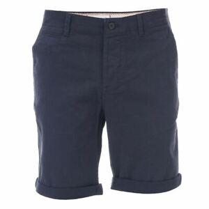Homme-Jack-Jones-Basic-braguette-zippee-en-coton-melange-short-chino-en-bleu